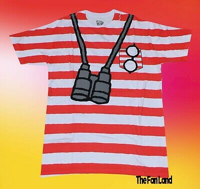 New Where's Waldo 1987 Costume Mens Retro Vintage T-Shirt](Run Dmc Costume)