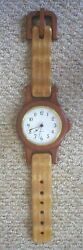 HANDCRAFTED LARGE DESK/WALL WOOD WRISTWATCH – BATTERY CLOCK