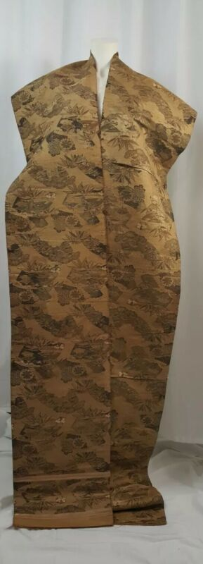 Vintage Silk Japanese Obi / Black, Gold