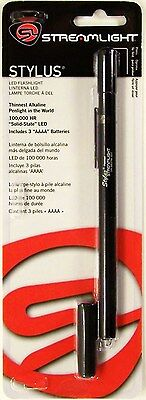 Streamlight 65018 Stylus LED Pen Light Black White Beam Aluminum EMT Police USA Streamlight Stylus Pen Light