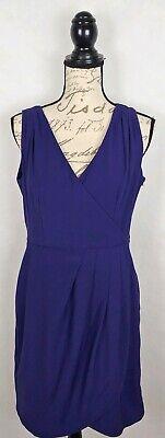 H&M Womens Purple Wrap Style Dress Size 12