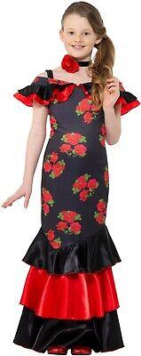 Flamenco Tänzerin Mädchen Kinderkostüm Spanierin Girl Karneval - Flamenco Tänzerin Kostüm Kind