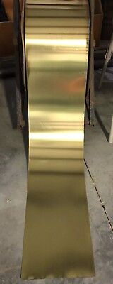 "- Brass Sheet Metal Roll .012"" - 12"" Wide - You Choose the Length sold by the foot"
