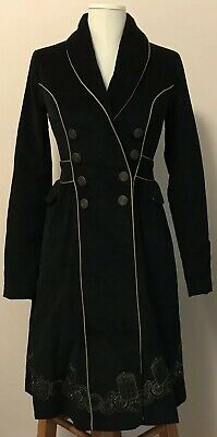 Doctor Who Embroidered TARDIS Corduroy Trench Coat Cosplay Hot Topic Size XS