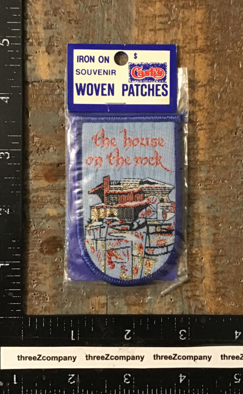 Vintage THE HOUSE ON THE ROCK Wisconsin Travel Landmark Souvenir Patch WI