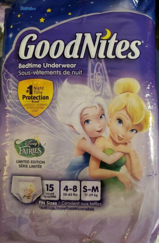 GoodNites Nighttime Underwear Limited Edition 4-8 S/M Tinkerbell Disney Fairies