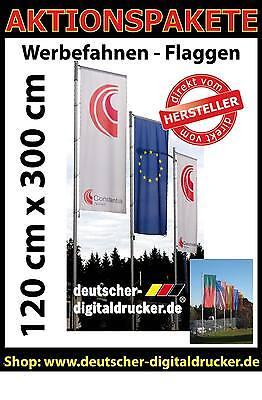 Firmen Fahnen -Stoffbanner - Werbe  Fahnen 120 x 300 cm fahnen flaggen drucken gebraucht kaufen  Wangen