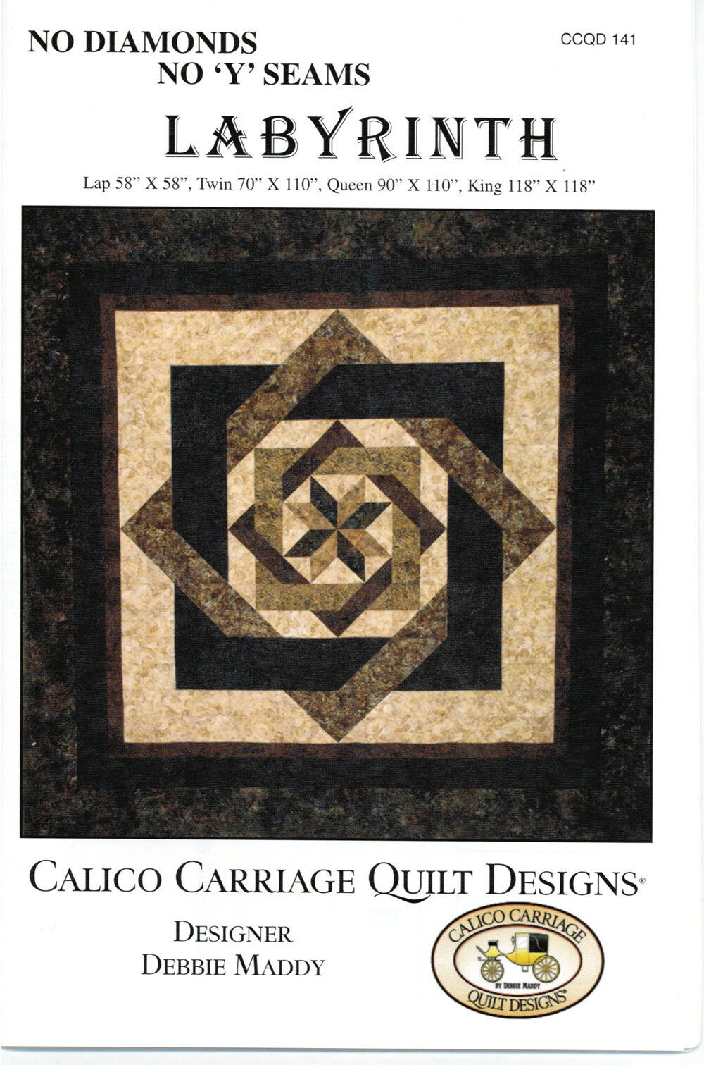 Labyrinth Quilt Pattern By Calico Carriage Quilt Designs No Diamonds / y Seams