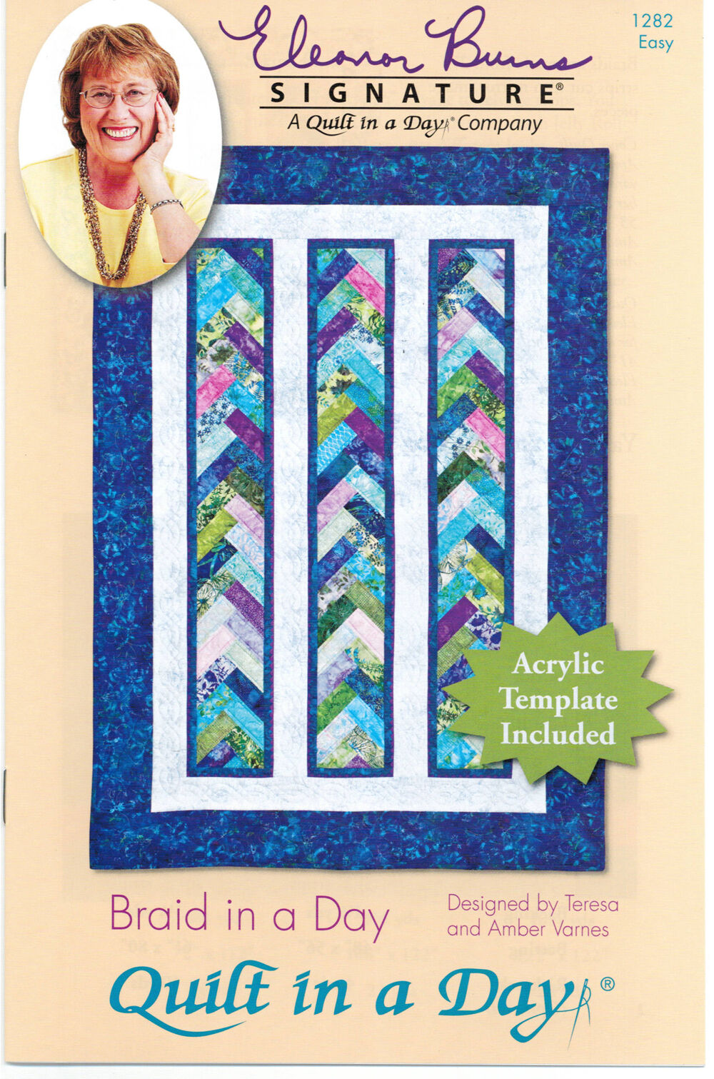 Braid In A Day Quilt Pattern 1284 By Quilt In A Day, Acrylic Template Included.