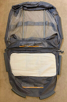 Graco Pack N Play Playpen  Clip On Mesh Bassinet Insert WITH Poles Ships FREE!