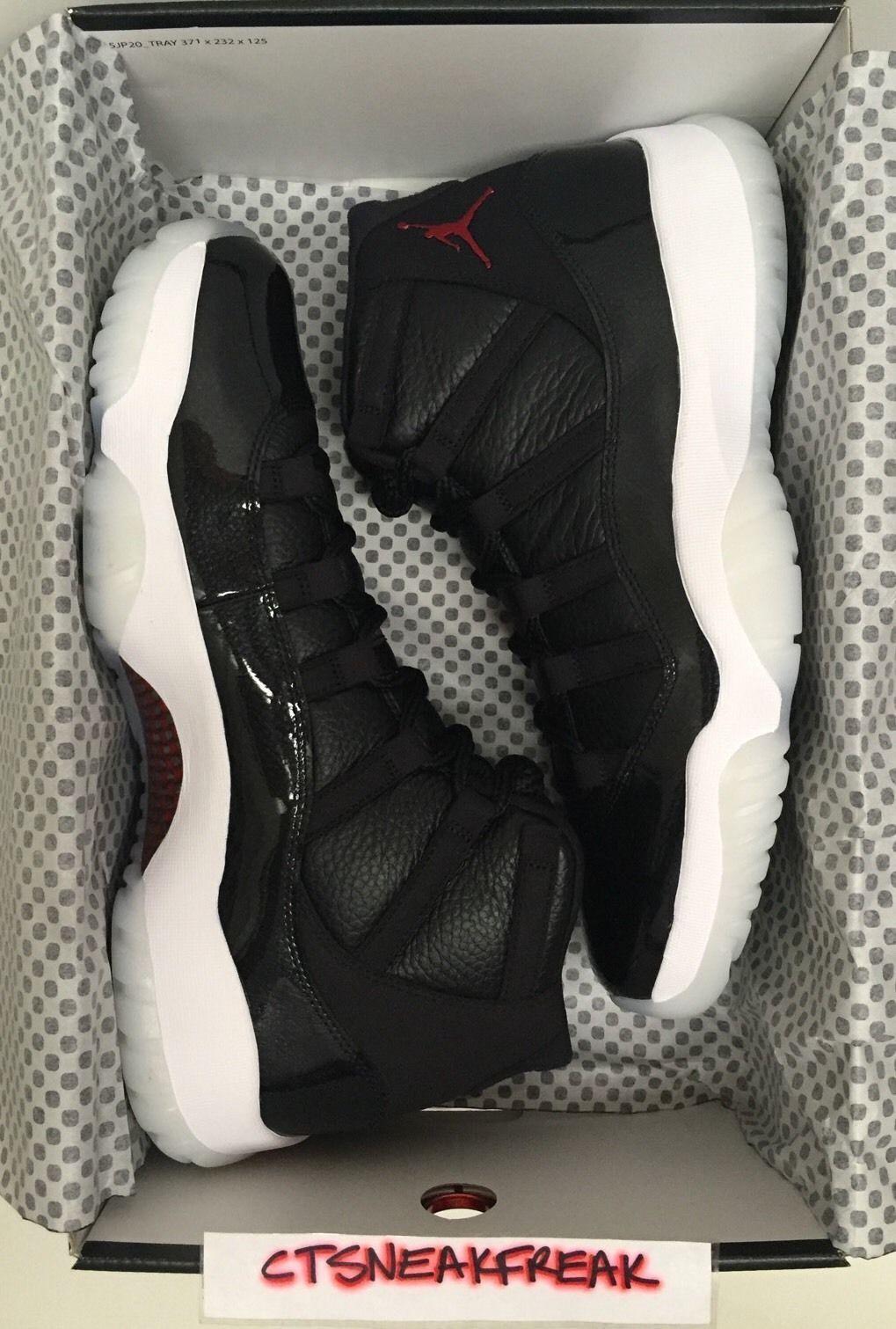 e6ab1029f081 Nike Mens Air Jordan 11 Retro 72-10 Black Shoe s - 378037-002 for ...