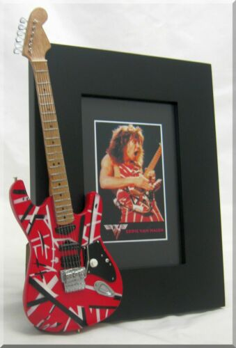 EDDIE VAN HALEN Miniature Guitar Frame EVH Frankenstrat