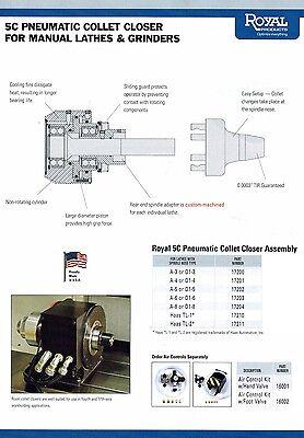Royal Pneumatic Cnc Lathe 5c Collet Chuck 17203 Spindle D1-6 Manual Lathe