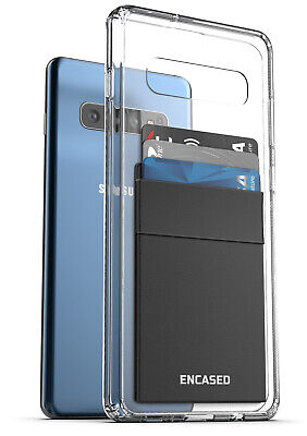 Samsung Galaxy S10 Plus Clear Back Case with Phone Credit Ca