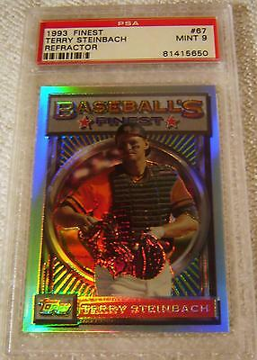 TERRY STEINBACH 1993 TOPPS FINEST REFRACTOR 67 PSA 9 MINT VERY RARE A S - $93.75