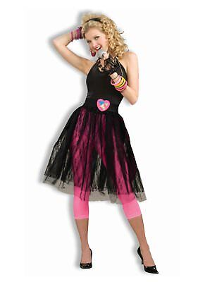 80's 80s Pop Star Black Skirt Adult Costume Accessory, One Size (80s Accessories)