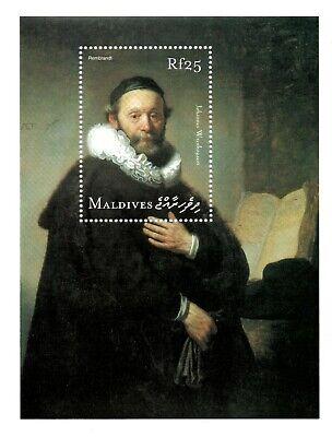 MODERN GEMS - Maldives - Rembrandt Rijksmuseum - Souvenir Sheet - MNH