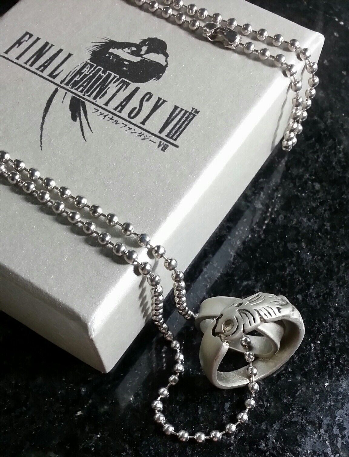 Final Fantasy VIII Rinoa Necklace  Squall Griever Ring  FF8 Dissidia Cosplay