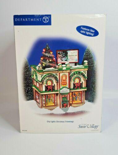 DEPT 56 Snow Village CITY LIGHTS CHRISTMAS TRIMMINGS 2004 Works 56.55348