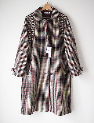 JW Anderson X Uniqlo Women's Oversized Soutien Collar Coat Wool Overcoat Size M