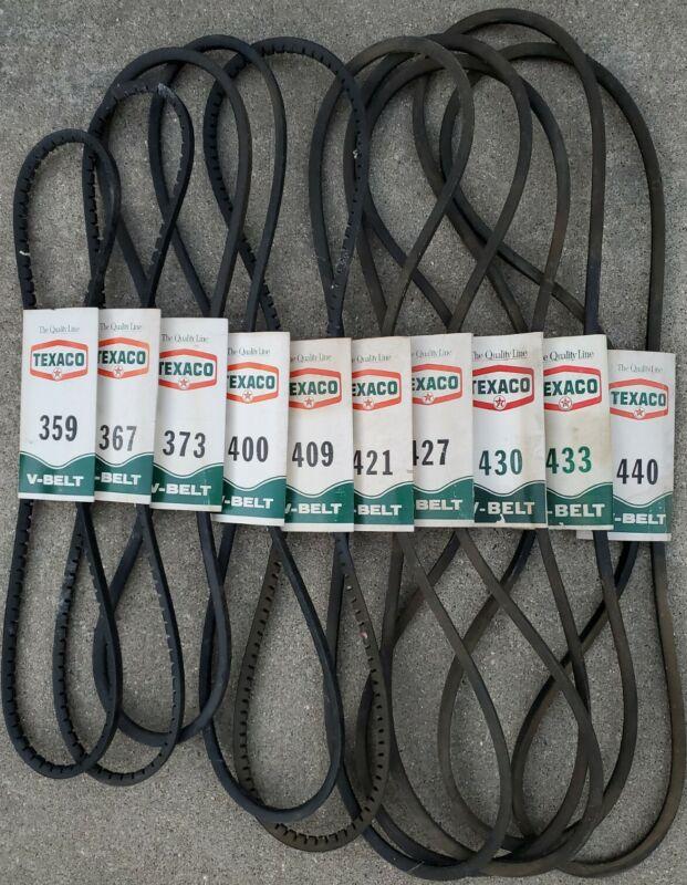 10 VTG NOS TEXACO SERVICE STATION FAN BELT BELTS NOT OIL CAN PORCELAIN TIN SIGN