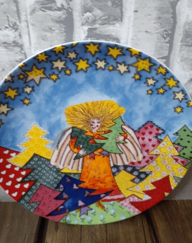 Kiki 1997 Made In Japan The Angel Who Takes Care Of The Christmas Trees Plate