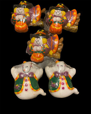 Spooky Hollow Floating Candles Halloween Theme 2 Ghosts & 3 Witches New