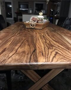 Acacia Wood  Harvest Dining Table