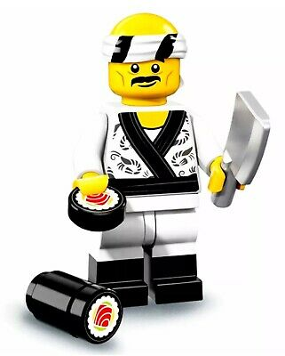 LEGO Minifigures Ninjago Movie 71019 Sushi Chef MiniFigure NEW MINIFIG