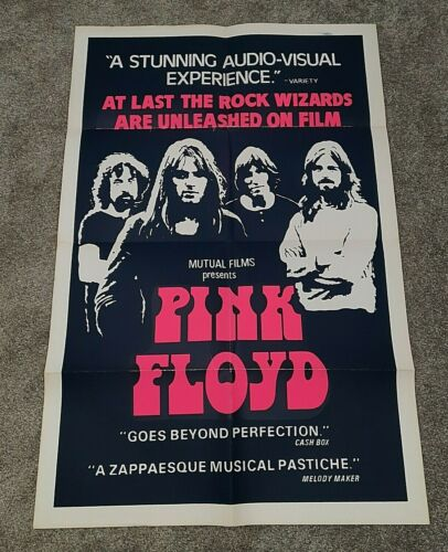 PINK FLOYD THE MOVIE (POMPEII) ORIGINAL 1972 THEATRICAL RELEASE POSTER