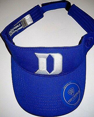"""DUKE BLUE DEVILS UNISEX ADULT ADJUSTABLE SUN VISOR CAP HAT WITH WHITE """"D"""" LOGO"""