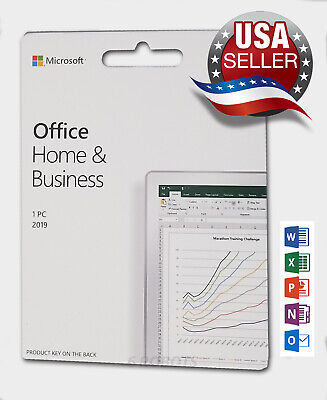 Microsoft Office 2019 MS Home and Business 1PC Key Card Lifetime License