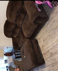 Couch + ottoman for $150