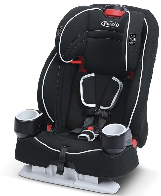 Graco Atlas 65 2 in 1 Harness High Back 5 Point Baby Booster Seat Glacier Seal