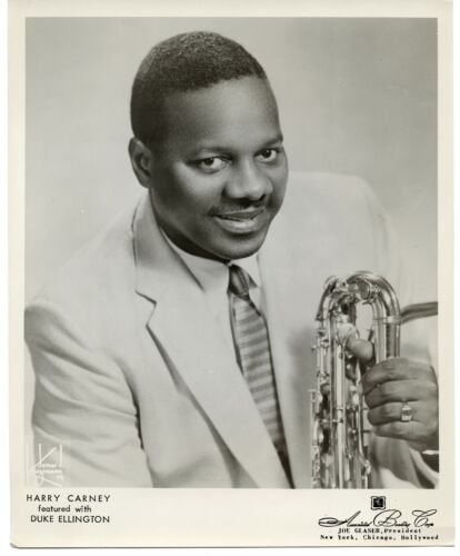 Jazz Saxophonist Harry Carney orig 1950s 8x10 James Kriegsmann agency photograph