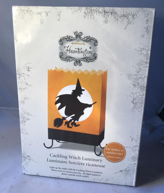 Hallmark Hauntington - Cackling Witch Luminary - NEW IN BOX