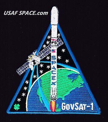 New Govsat 1   Spacex Original Falcon 9 F 9 Launch Satellite Mission Patch