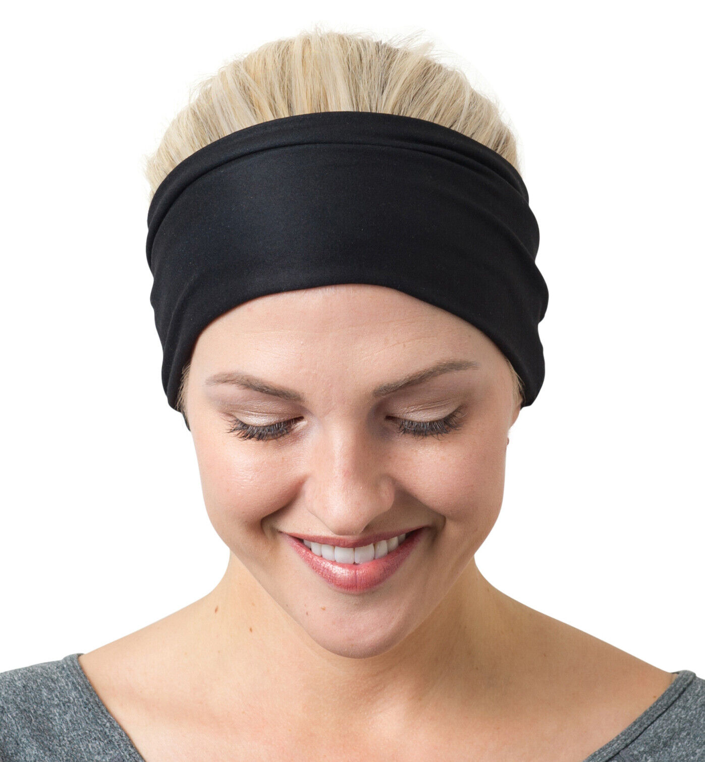 NEW! Yoga Headbands by RiptGear® Wide Non-Slip Sweatband Gy