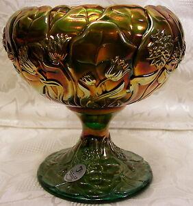 Fenton 2009 Emerald Marigold Carnival Glass