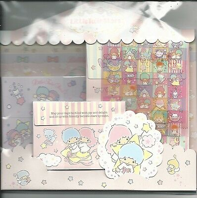 Sanrio Little Twin Stars Stationery Envelope Sticker Large Set