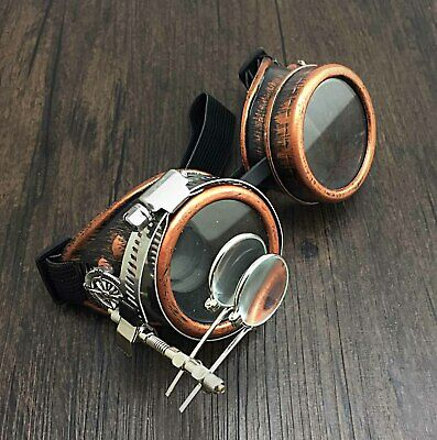 Vintage Steampunk Goggles With Ocular Gothic Retro Glasses Punk Cosplay