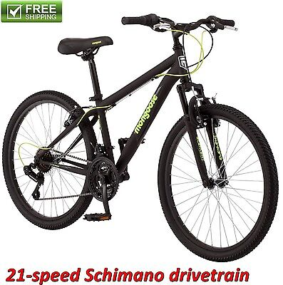 """MONGOOSE MOUNTAIN BIKE 24"""" BOY'S FRONT SUSPENSION TRAIL RIDE BICYCLE SHIMANO NEW"""