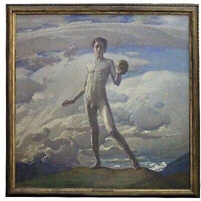 Alberto Ferrero (1883-1963) / Painting Divisionista To Oil on Canvas' Rex Mundi