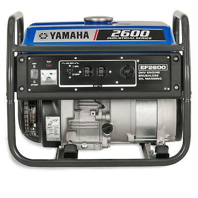 Yamaha Ef2600 2600 Watt Gas Powered Portable Rv Home Backup Power Generator