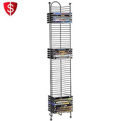 CD DVD Rack Storage Tower Shelf Multimedia Organizer Stand Wall Holder Shelves