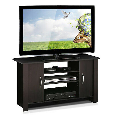 TV Fail to keep an appointment with support ENTERTAINMENT CENTER Living Room Organizer Storage Space Wood Espresso