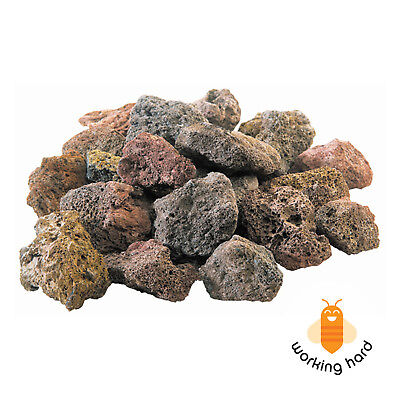 NATURAL LAVA GRILL ROCKS 6 Lb Gas Rock Stones Grilling Barbecue Outdoor Cooking ()
