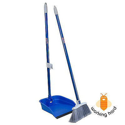 """BROOM DUSTPAN SET Stand And Store Lobby Kitchen Home Floor Cleaning Set 35.5"""""""