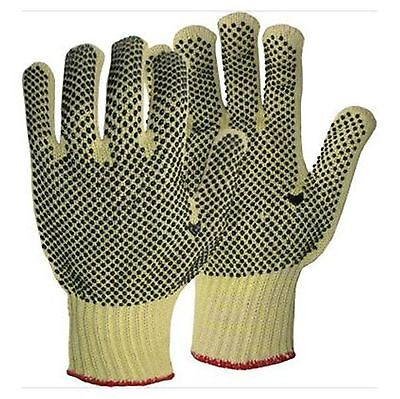 - Reversible String Knit Gloves with Dots Size Small PVC Work Gloves S-16DD-S