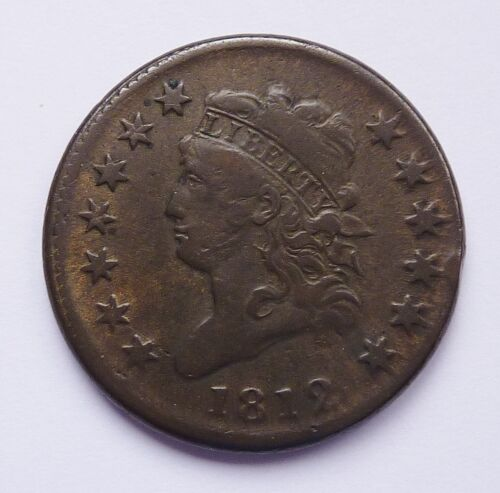 1812 U.S. CLASSIC HEAD LARGE CENT ~ SMALL DATE VARIETY ~ FINE PLUS CONDITION